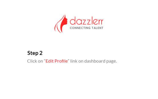 Dazzlerr : Edit Profile Step 3