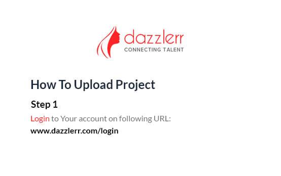 Dazzlerr : Video Step 1
